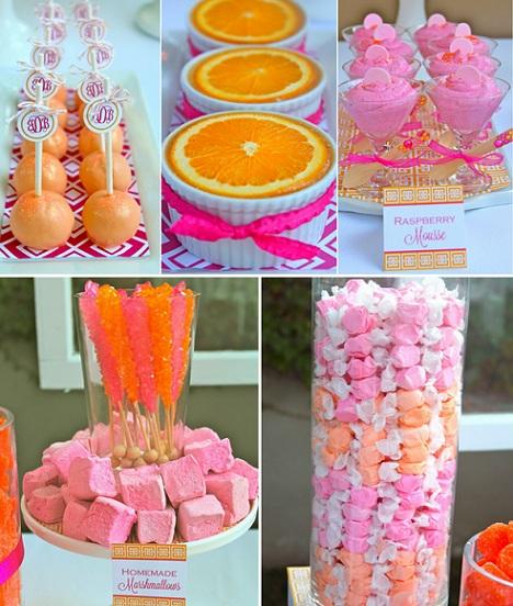 40 cumpleanos rosa naranja