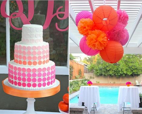 40 cumpleaños rosa tarta