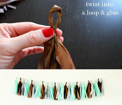 como hacer una guirnalda cuello