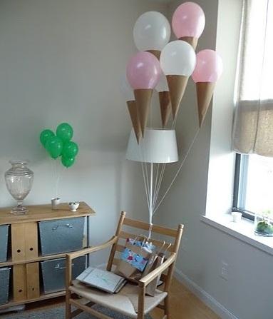 decorar con globos helados