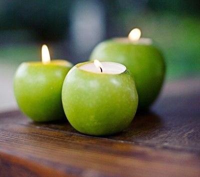 5 ideas centros de mesa manzanas
