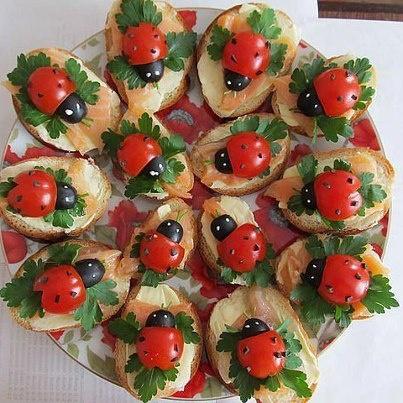 aperitivos fiestas tostas mariquitas