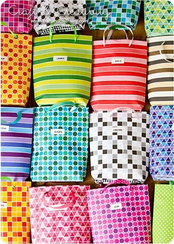 bolsas cumpleaños papel
