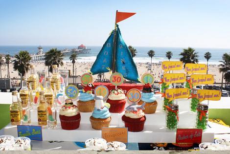 Cupcakes de playa