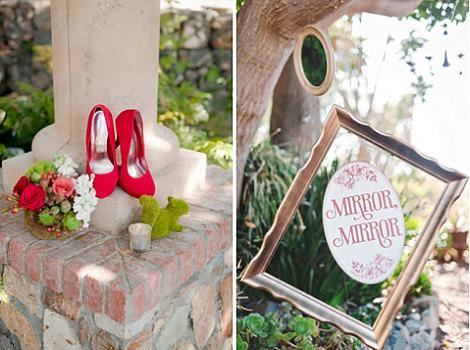 Decoración boda de Blancanieves