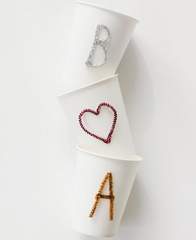 decorar vasos de papel resultado