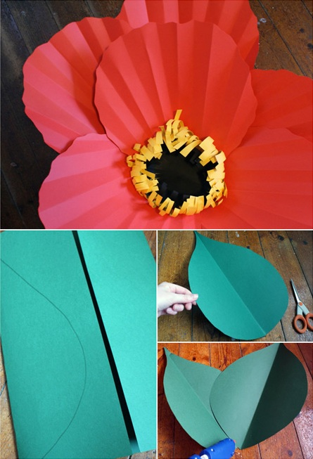 flores de papel pegar