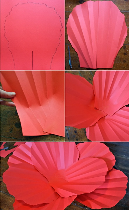 flores de papel petalos