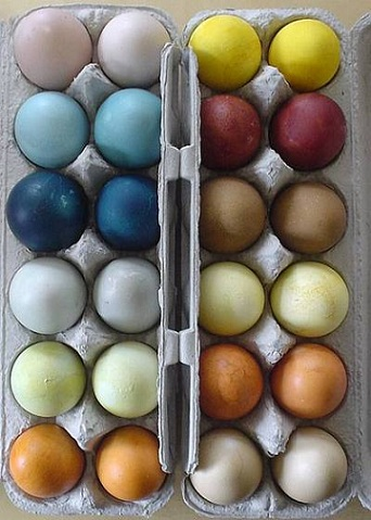huevos de pascua colores