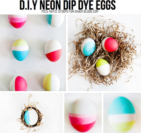huevos de pascua degradados