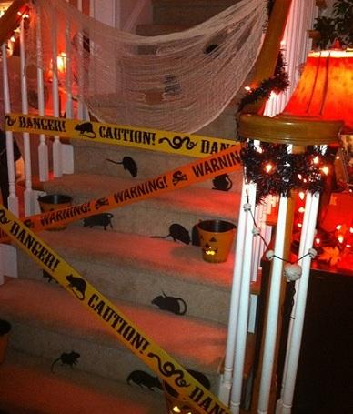 ideas fiesta halloween escalera