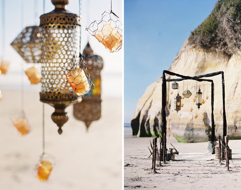 ideas fiesta playa velas