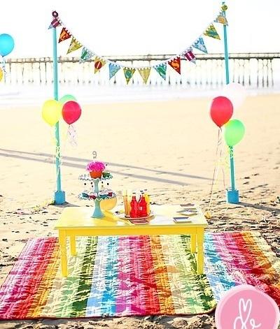 inspiracion fiesta playa mesita