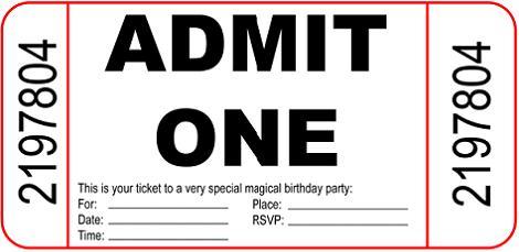 Invitación ticket
