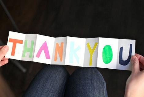 Tarjeta de agradecimiento DIY