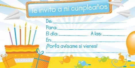 Tarjeta invitación