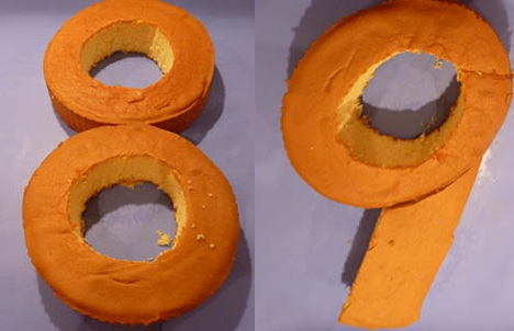 tartas formas numeros 8 9