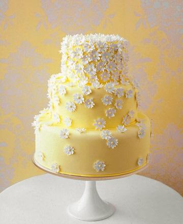 6 tartas boda amarilla