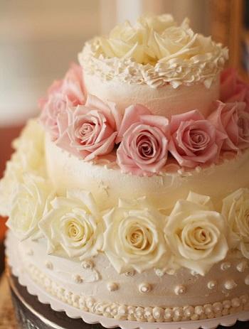 6 tartas boda flores