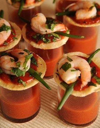 aperitivos fiestas originales gazpacho