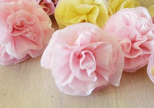 como hacer flores papel pinocho resultado