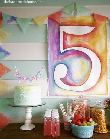fiesta de colores mural
