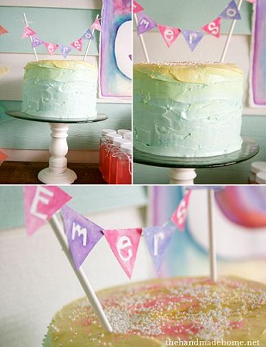 fiesta de colores tarta
