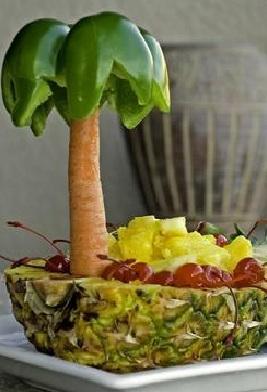 fiesta hawaiana fruta
