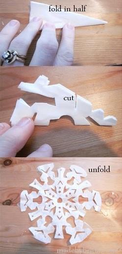 hacer copos nieve formas