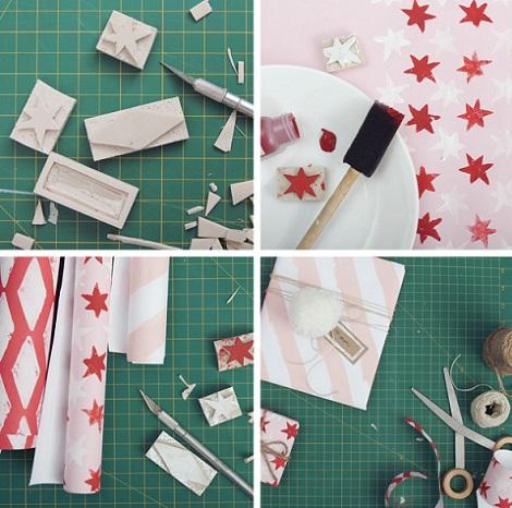 hacer papel regalo proceso