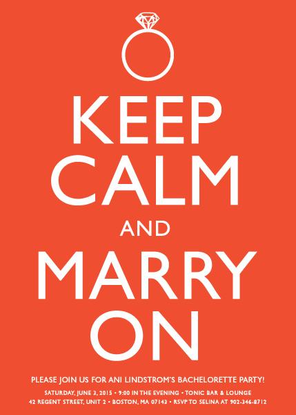 Invitación keep calm