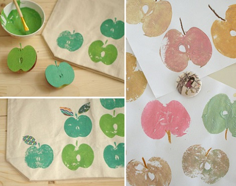 sellos caseros manzana