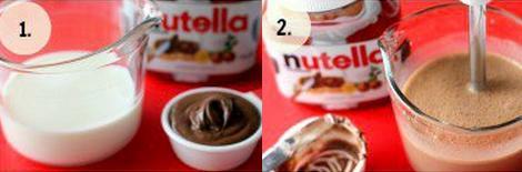 hacer helados polos de chocolate nutella