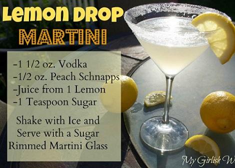 como hacer un lemon drop martini