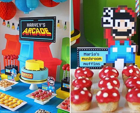 cumpleaños frikis videojuegos mario bros