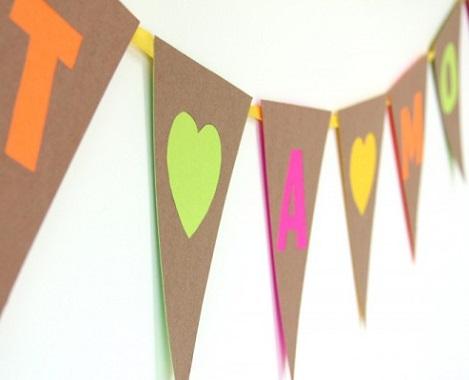 decoracion reciclaje fiestas banderas