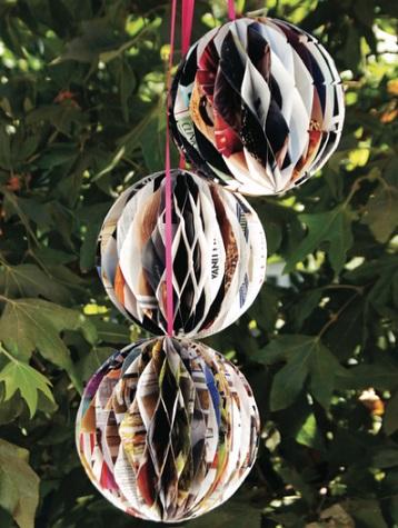 decoracion reciclaje fiesta bolas