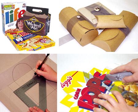 decoracion reciclaje fiestas cajas