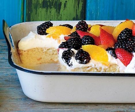 Decorar tarta de fruta