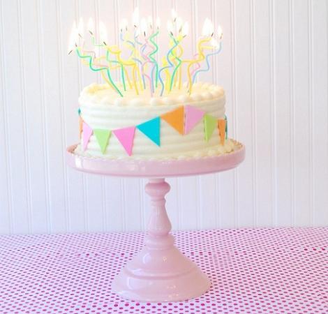Decorar tarta con velas