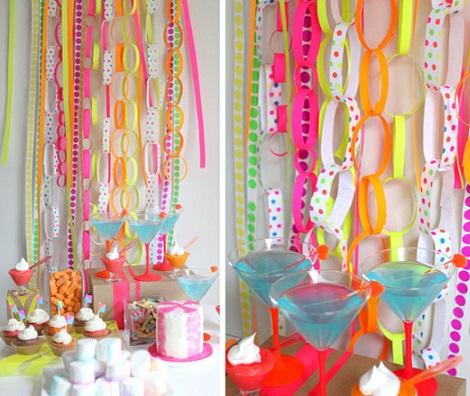 fiesta neon guirnaldas