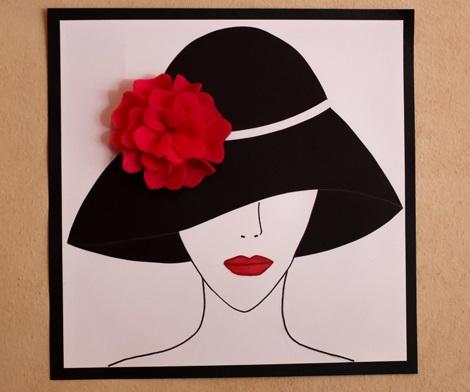 fiesta sombreros chicas cuadros