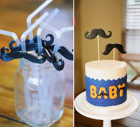 ideas baby shower mustache pajitas