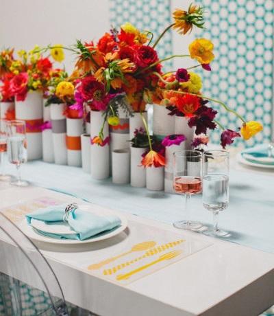 ideas boda en casa mesa