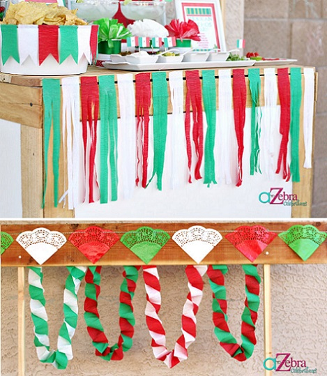 ideas fiesta mexicana casa guirnaldas