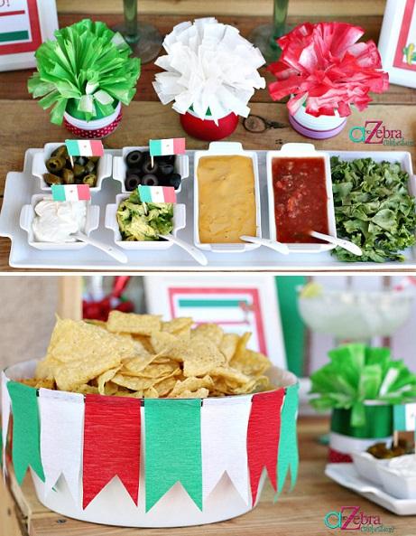 ideas fiesta mexicana casa nachos