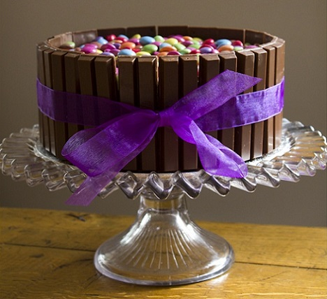 ideas tartas chocolate cumpleanos kit kat