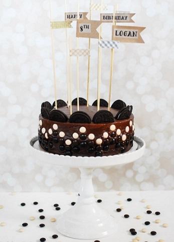 ideas tartas chocolate cumpleanos oreo