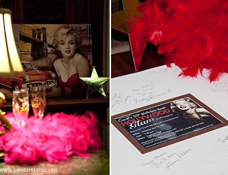 50 cumpleanos glamour hollywood decoracion