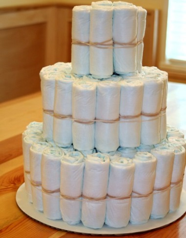 como hacer tarta de pañales tutorial